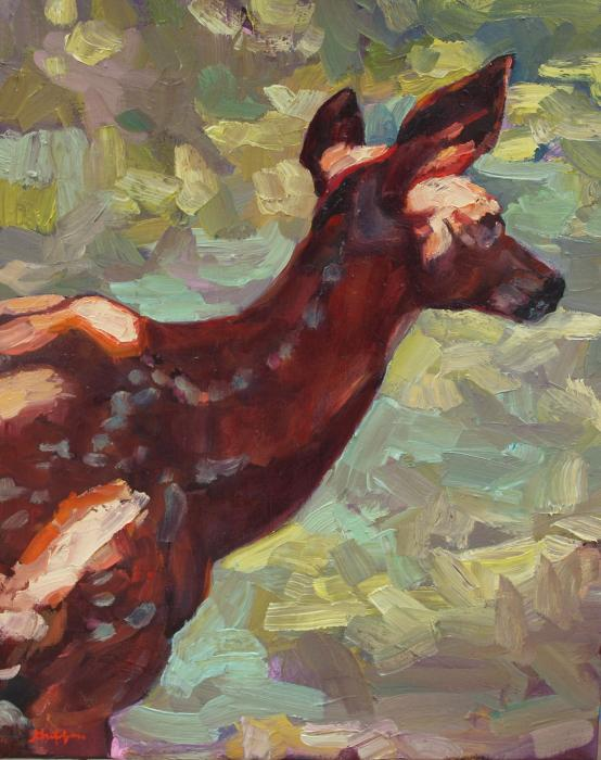 Dappled Fawn :: Artwork by Patricia A. Griffin