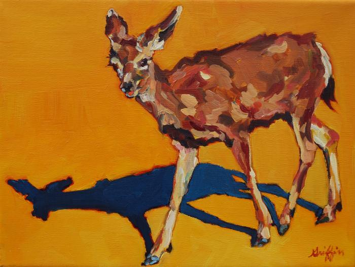Doe at Grand Canyon :: Artwork by Patricia A. Griffin