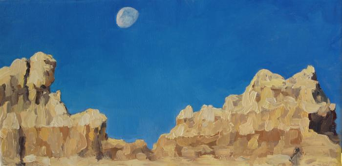 Lunar AM at the Wall :: Artwork by Patricia A. Griffin