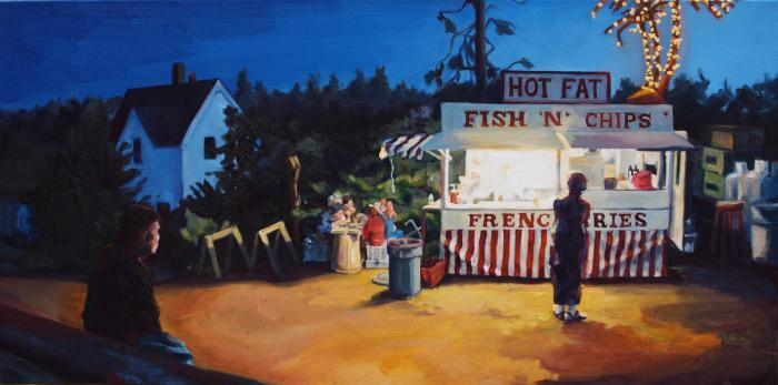 Monhegan Meal :: Artwork by Patricia A. Griffin
